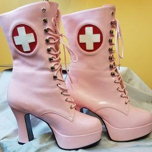 NWOT Funtasma pink nurse costume/ cosplay boots- 8